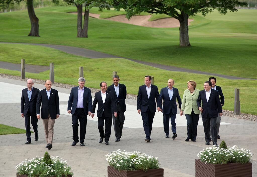 Leaders of the G8 on 18 June 2013, in Lough Erne, Northern Ireland, United Kingdom