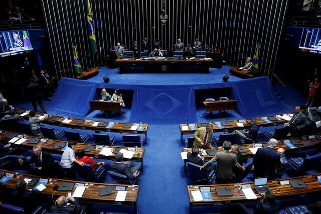 Sessão do Senado Federal que aprovou intervenção do Exército no Rio de Janeiro.