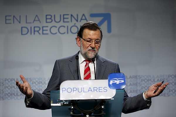 El jefe del gobierno español Mariano Rajoy durante una conferencia de prensa el 25 de mayo de 2015 en Madrid.