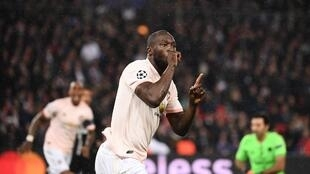 Le Belge Romelu Lukaku célèbre son but face au Paris Saint-Germain.