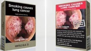 Plain packaging for cigarettes in Australia