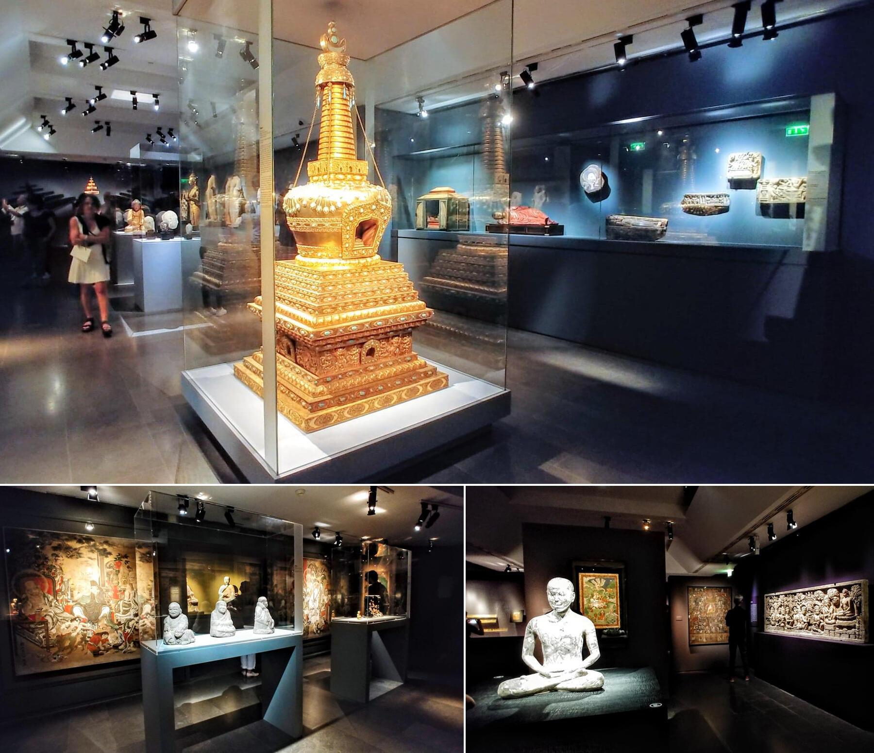 """Stupa có từ thế kỷ 18 : """"tháp bà"""" hay """"phù đồ"""" là nơi cất giữ một phần xá lợi (di thể của Đức Phật)"""