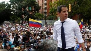 委内瑞拉反对派领导人瓜伊多  2019年7月5日加拉加斯