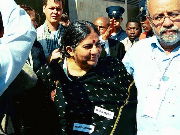 Vandana Shiva, en septembre 2002.
