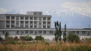 A facility believed to be a reeducation camp north of Akto in China's northwestern Xinjiang region is shown in this photo taken on June 4, 2019