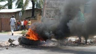 Roadblocks in Bujumbura, Burundi, 15 May 2015.
