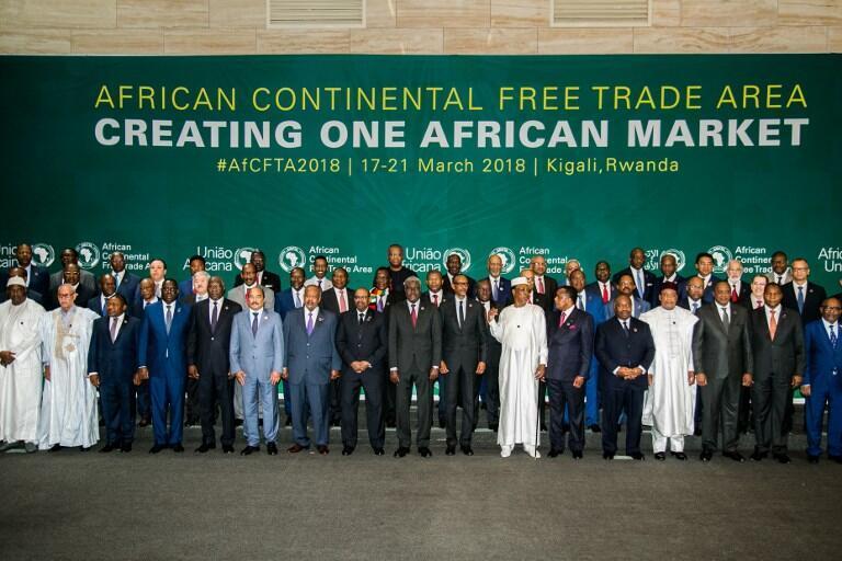 Quarante-quatre pays ont signé l'accord pour une Zone de libre-échange continentale en Afrique à Kigali ce 31 mars 2018.