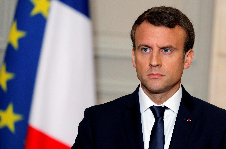Tổng thống Pháp Emmanuel Macron trong buổi họp báo tại điện Elysée, Paris, ngày 12/06/2017.
