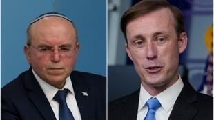 مئیر بنشبات و جیک سالیوان مشاوران امنیت ملی اسرائیل و آمریکا.