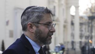 Le Grand Rabbin de France, Haïm Korsia, à Paris le 19 février 2019.