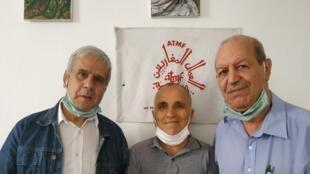 Mohamed Djoumi, Abdellah Moubine (président de l'ATMF) et Mouloud.