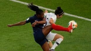 2019世界盃女足首場比賽法國4-0勝韓國隊2019年6月7日巴黎王子公園體育場