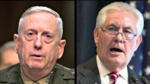 美国国防部长马蒂斯 国务卿蒂勒森资料图片