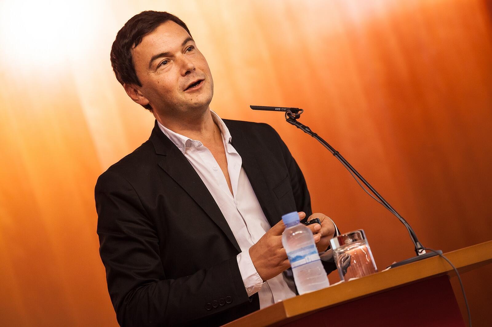 Thomas Piketty faz palestra em Barcelona, no último mês de outubro.