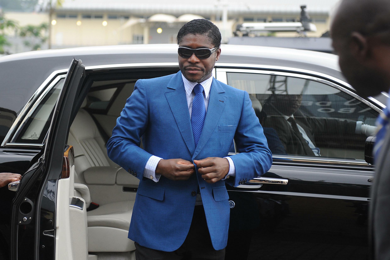 Teodorín Nguema Obiang, el 24 de junio de 2013 en Malabo, Guinea Ecuatorial