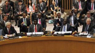 Le Conseil de sécurité de l'ONU en juillet 2012.