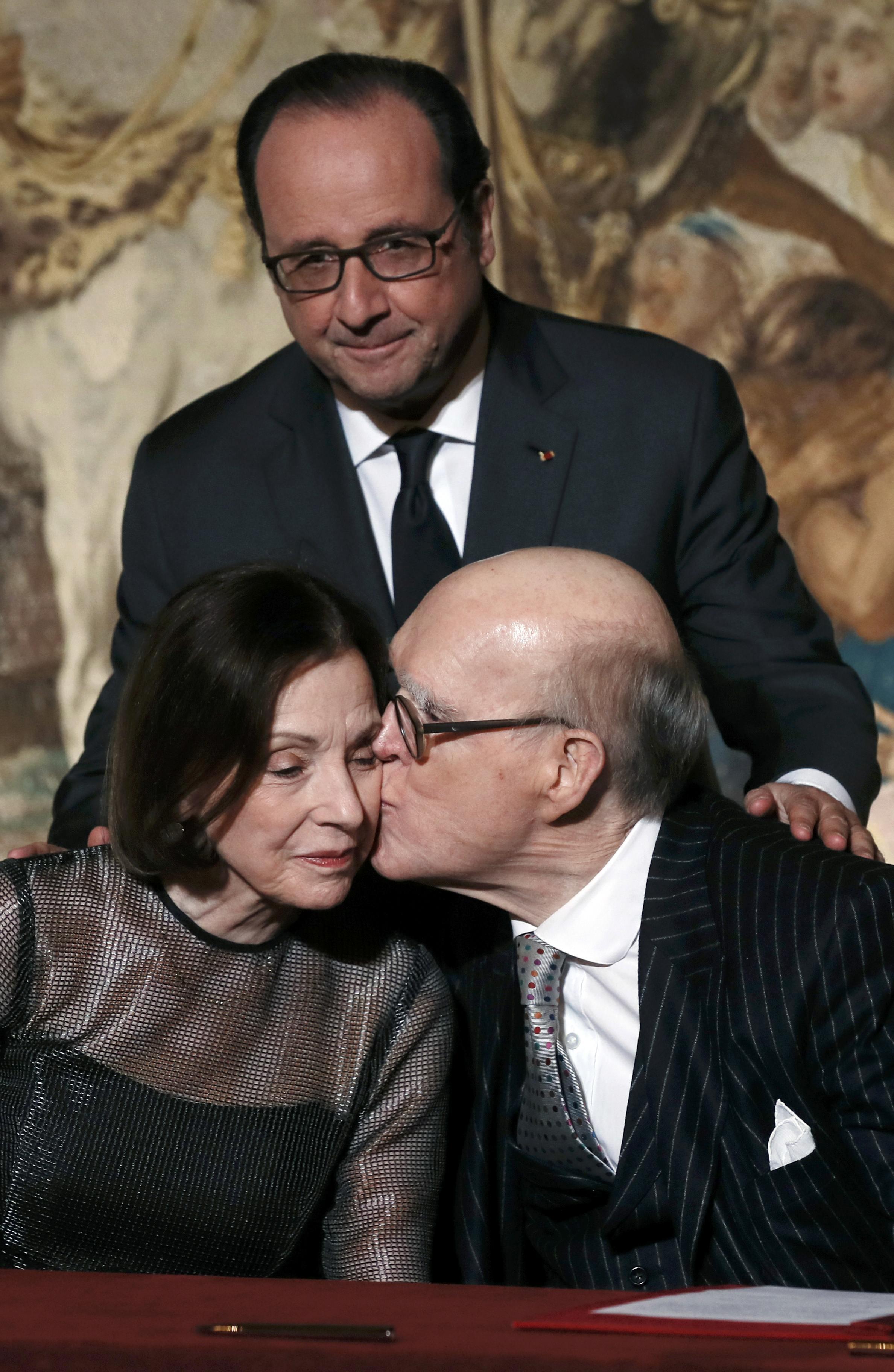Marlene và Spencer Hays, hai nhà mạnh thường quân của bảo tàng Orsay, Pháp. Ảnh ngày 22/10/2016.