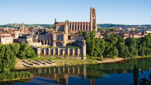 The episcopal city of Albi. View of cathedral and Bishop's Palace