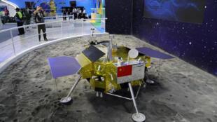 Модель зонда «Чанъэ-4»  на аэрокоспимечском шоу в Китае, 2018 год