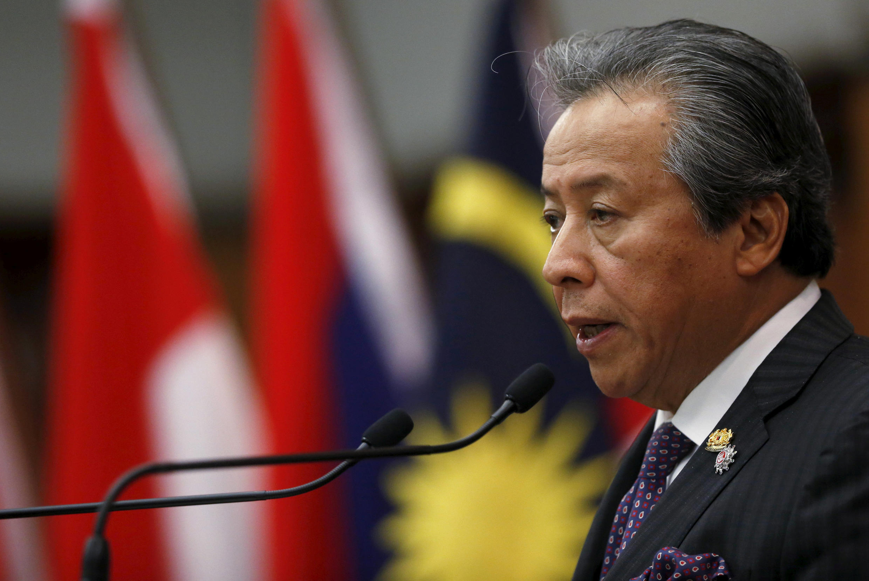 Ngoại trưởng Malaysia Anifah Aman họp báo sau thượng đỉnh ASEAN, Kuala Lumpur, ngày 26/04/2015