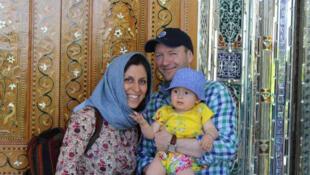 نازنین زاغری، همسر و دخترش