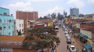 Le centre-ville de Kigali, capitale du Rwanda.