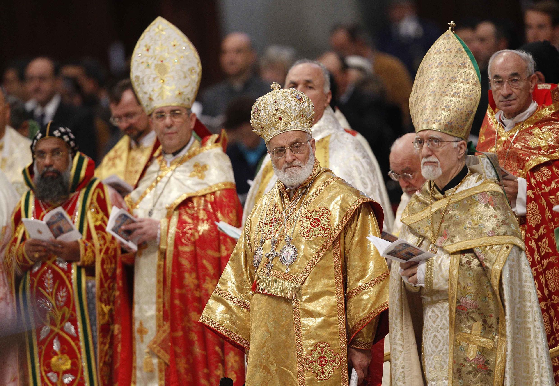 Des évêques du Moyen-Orient lors de l'ouverture du Synode au Vatican, le 10 octobre 2010.