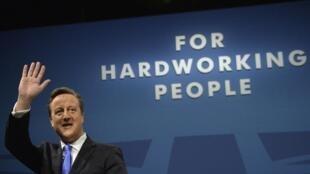 O primeiro-ministro britânico David Cameron, durante congresso do Partido Conservador, em outubro de 2013.