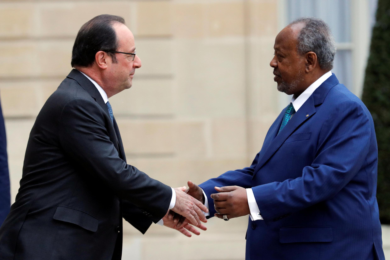 François Hollande et Ismail Omar Guelleh à l'Elysée le 28 février 2017.