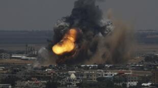 Bombardeo de Israel en Gaza, 8 de julio de 2014.