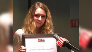 Alexandra Lagarde, lauréate du prix Charles Lescaut 2021.