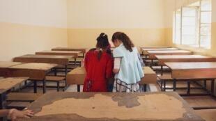 Des fillettes en cours dans une école de Tal Afar, à l'ouest de l'Irak, 16 septembre 2019.
