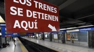 A Buenos Aires, 1,5 millions d'usagers sont privés de métro depuis vendredi 3 août 2012 en raison d'une grève.
