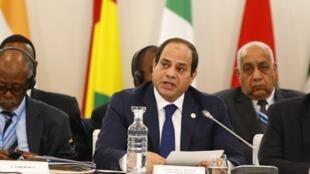 Rais wa Misri Abdel Fattah al-Sisi.