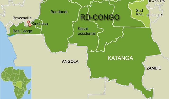 Le Katanga, au sud du Congo.
