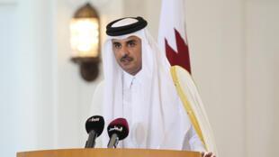 L'émir du Qatar, cheikh Tamim ben Hamad al-Thani, le 7 décembre 2017 à Doha (image d'illustration).