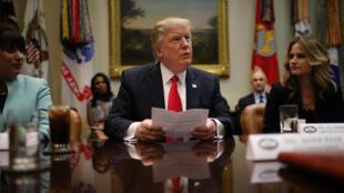 Le président Donald Trump lors d'un rendez-vous à la Maison Blanche, le 30 janvier 2017.