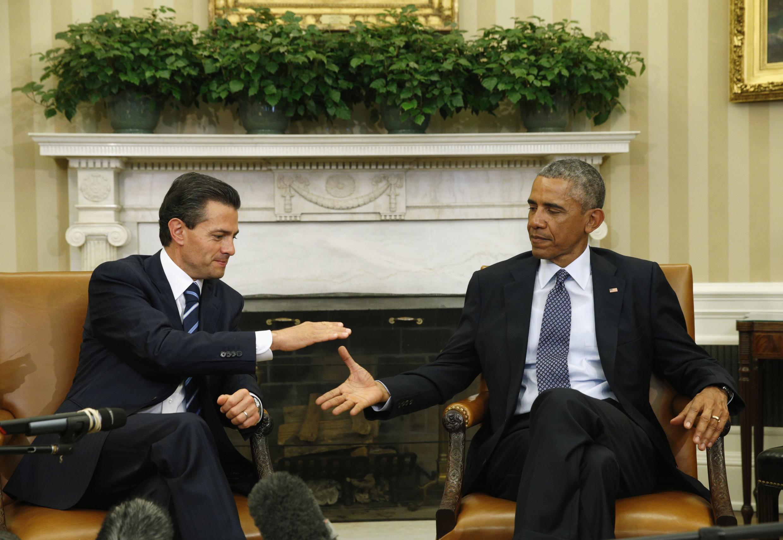 Enrique Peña Nieto y Barack Obama, este 6 de enero de 2015.