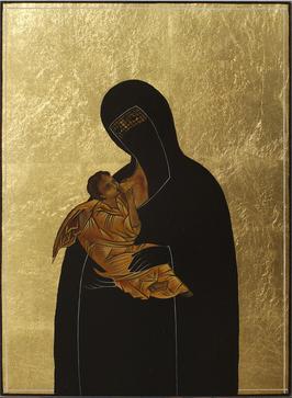 Дева Мария в парандже с Иисусом