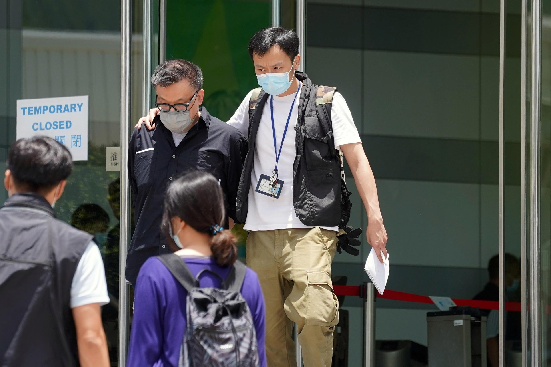 6月17日,香港壹传媒行政总裁张剑虹被捕资料图片
