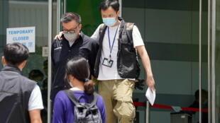 6月17日,香港壹傳媒行政總裁張劍虹被捕資料圖片