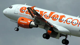 An easyJet Airbus A319 takes off from Bristol International Airport, England