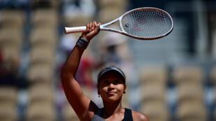 Osaka won her first-round match on Sunday