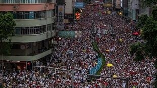 網傳香港反送中示威一景 資料照片