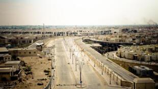 Une vue aérienne la ville de Syrte, le 7 octobre 2011 en Libye.