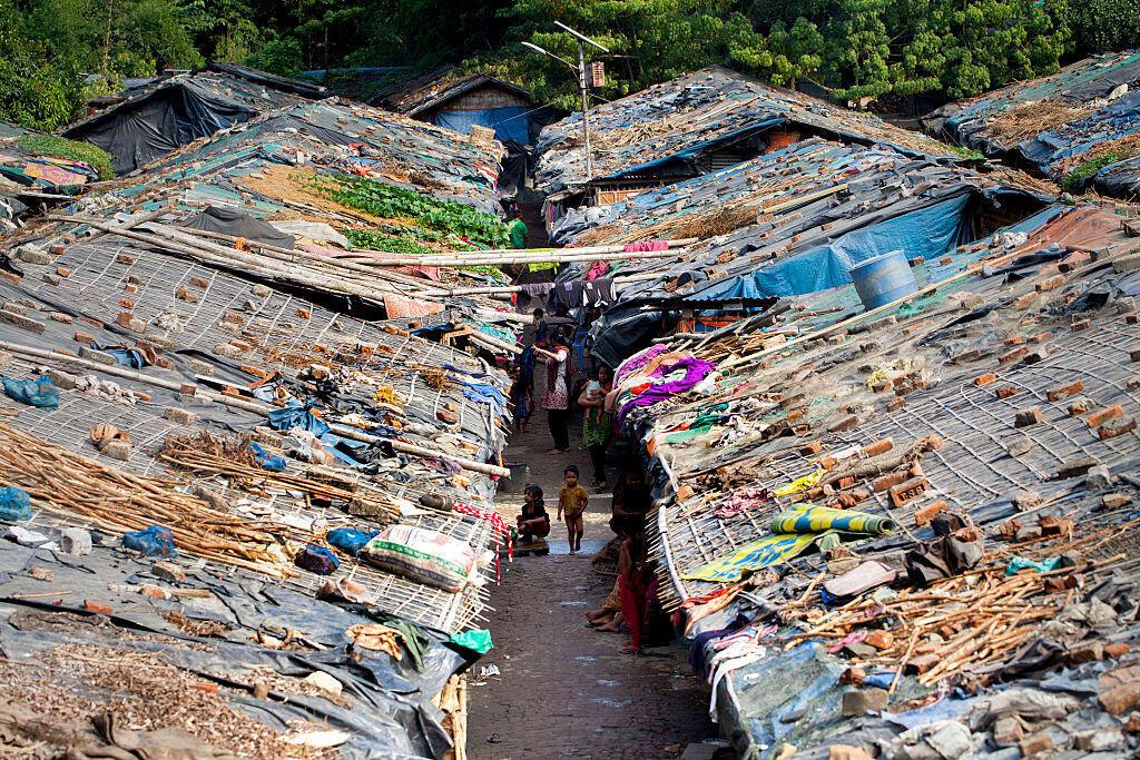 Trại tị nạn của người Rohingya Miến Điện ở Teknaf, Bangladesh, ngày 27/11/2016.