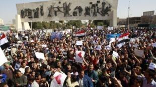 """""""День гнева"""" на площади Тахрир в Багдаде 25/02/2011"""