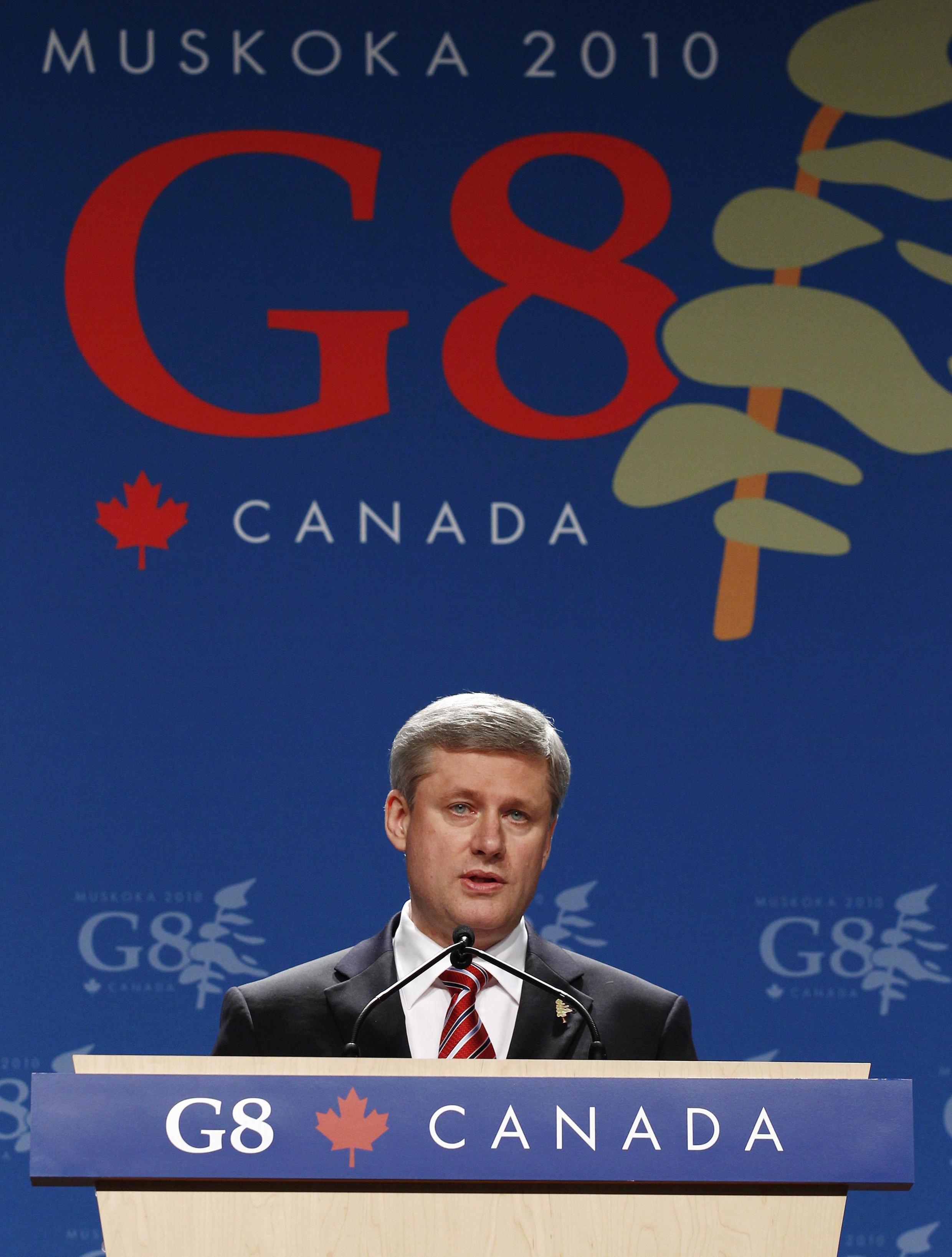 Премьер-министр Канады Стивен Харпер на саммите G8 в Хантсвилле.