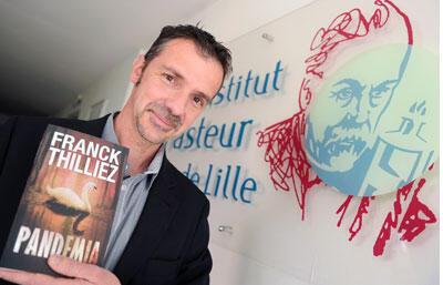 Portrait du romancier Franck Thilliez, pour son livre «Pandemia» paru aux éditions Fleuve Noir.