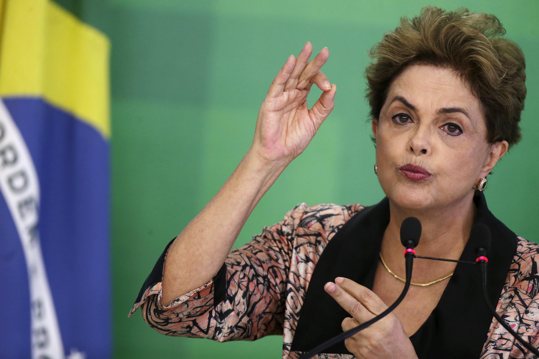 La présidente brésilienne Dilma Rousseff, le 19 avril dernier à Brasilia.